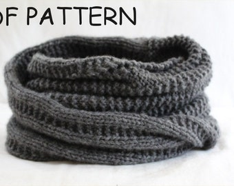 KNITTING Pattern- Giant Cozy Snood PDF knitting pattern DIY Instructions