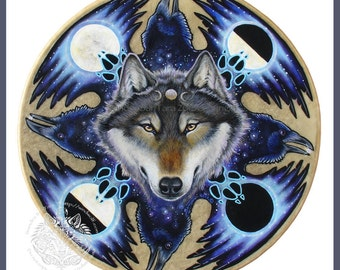 Wolf Raven Moon Print