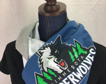 Minnesota Timberwolves Recycled T Shirt Infinity Scarf