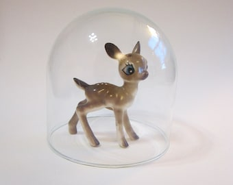 small glass dome - 3.75 inches tall x 3.875 inches wide - dome only