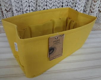 Fits LV Neverfull mm / Ready to ship / Purse insert ORGANIZER Shaper / 12 x 6 x 6H / Sturdy / YELLOW / With stiff wipe-clean bottom