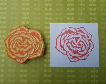 Rose Stamp - flower, bloom, rubber stamp