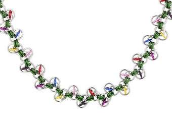 Chainmaille Kit - Christmas Lights Necklace Kit
