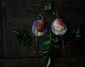 Eclipse - ceramic and sterling silver earrings