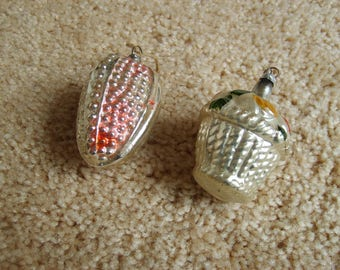 Vintage Christmas Ornaments (2),  Old Glass Ornaments, Christmas Ornaments