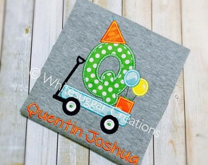 Boys First Birthday Shirt - Wagon Birthday PREMIUM Custom Shirt - Baby Boy 1st Birthday Outfit - Wagon Shirt - Toddler Shirt