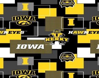 University of Iowa Hawkeys from Sykel Enterprises - Full or Half Yard U of I Logos Herky