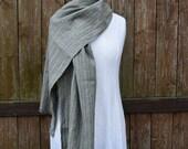 Mens linen scarves- olive green scarf- linen scarf- women scarf- light olive green