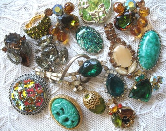 Destash Vintage Rhinestone Jewelry ~ Parts & Pieces