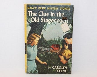1960 Nancy Drew Mystery Stories - The Clue in the Old Stagecoach  (968-2)