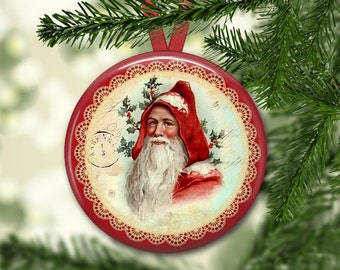 "3.5"" Santa Christmas tree ornaments - Santa Claus decorations - Victorian Christmas decorations for the kitchen - kitchen decor MA-HOL-1"