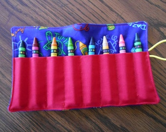 Crayon crayon roll up 8 count