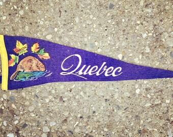 Vintage Quebec Pennant