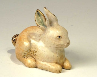 Golden Rabbit  - little sculpture