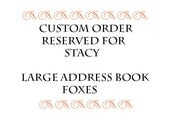 Address Book Large  Foxes - Reserved Order