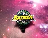 Batman Comic Superhero Logo Badge Reel Retractable ID Clip Name Tag Nurse Convention CNA Technician Medical Womens Mens Nursing Comic-Con