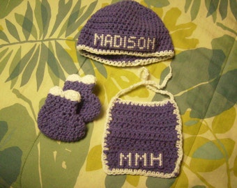 2-color baby booties