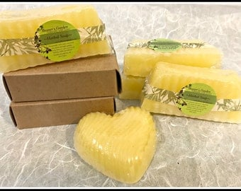 Aloe Vera Carrot Cucumber Chamomile Soap - Sensitive Skin - Natural Handmade Soap - Face Soap - Skin Healing Soap - Baby Soap - Teen Face