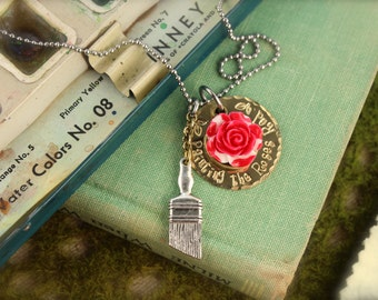 Alice Painting the Roses Red Inspired Necklace