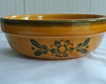 German Stoneware Bundt Bowl-Kugelhopf-Folk Art-Liechtenstein Schaedler Studio
