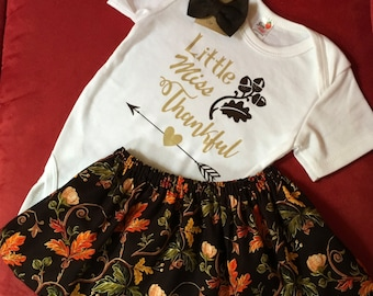 Thanksgiving Baby Outfit, little Miss Thankful, Thanksgiving Baby, Thanksgiving Outfit, Thanksgiving Dress, Thanksgiving Tutu,