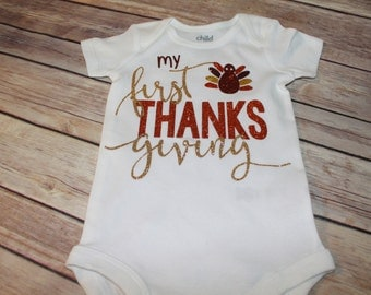 My First Thanksgiving Shirt, Baby's 1st Thanksgiving, Baby's First Thanksgiving, Thanksgiving Outfit, Thanksgiving Shirt, 1st Thanksgiving
