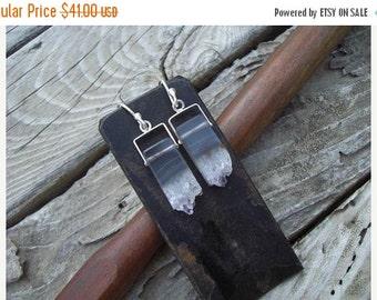 ON SALE Amethyst crystal earrings in sterling silver