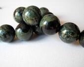 Large Hole Gemstone Kambaba Jasper Smooth Beads 14mm  2mm Hole 14 Beads
