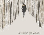 Wall Art for Women - A Walk in the Woods is good for the Soul - Winter Weekend - Wall Art Print -  Digital Art Print -  Wall Art -- Print