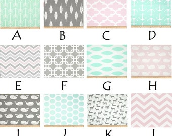 Bella and Mint Custom Crib Bedding--YOU DESIGN, I CREATE