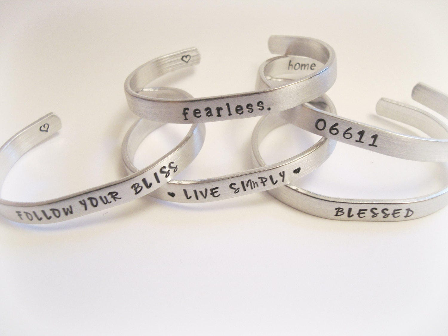 Customized Personalized Hand Stamped Bracelet to Your Specification Anything Can Be Stamped!