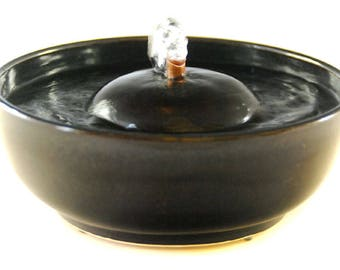 "Cat Water Fountain ""Onyx"""