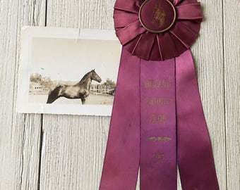Horse Show First Place Prize Ribbon Vintage Award