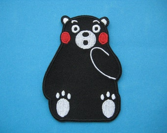 Iron-on Embroidered Patch Kumamon 3 inch
