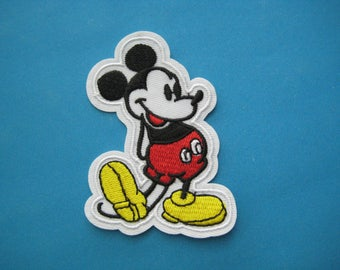 SALE~ Iron-on Embroidered Patch Mickey Mouse 3.25 inch