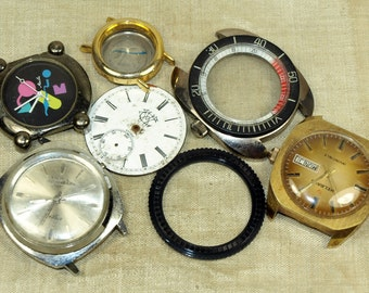 Grab Bag of Assorted Vintage Watch Parts, WATCH105