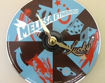 CD clock.  Melissa Etheridge CD clock. Melissa Etheridge. Small wall clock.