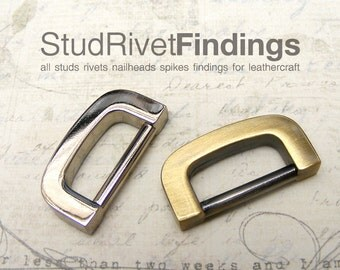 4pcs 17.5mm (inside) ZINC U SHAPED D-ring FOB Purse Hardware Finding for Purse Ring, Clasps Hook Ring dr04/ High Quality