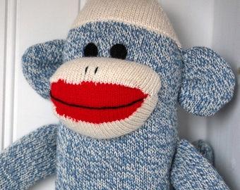 Blue Sock Monkey - Traditional Rockford Red Heel Socks