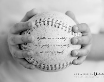 Gift for Him, Unique Birthday Gifts for Dad, Holiday Gifts for Father, Custom Dad Gifts, Father Presents, Baseball Print, Father Quote