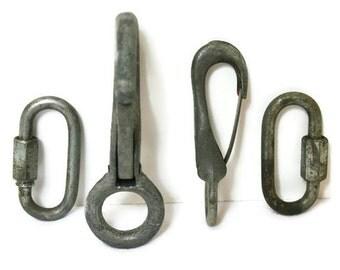 Vintage Metal Hooks / Salvaged Industrial Hardware for Repurposing and Crafting