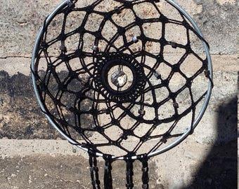 crochet suncatcher black