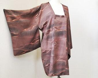 VINTAGE Japanese Kimono Jacket Dress