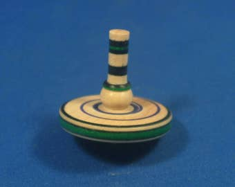 Spin Top - Painted Maple with Brass Tip