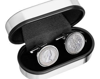 Coin Cufflinks in Handmade - English cufflinks - 100% satisfaction - Wedding Cufflinks-perfect gift - Includes presentation box