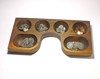 Vintage Coin Register Tray, Money Drawer Change Holder - circa early 1900's