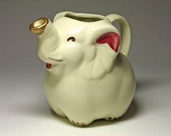 Vintage Shawnee Pottery Elephant Pitcher, Rare Release  - circa  1940's