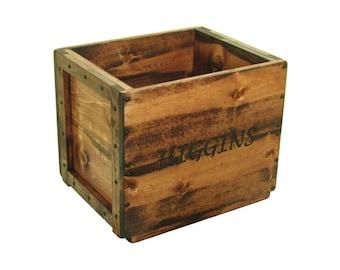Wood Crate, Wooden Box, Wood Bin, Wooden Keepsake Box, Memory Box, Hope Chest, Wedding Card Box, Toy Box, Wood Tote, Large Wood Storage Box