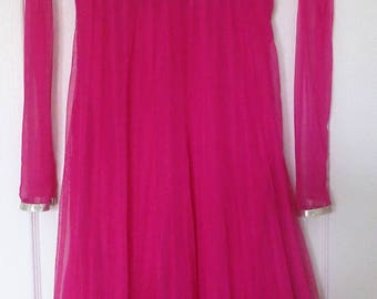 Party dress, Indian party dress, vivid pink party dress, size 8
