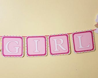 Lamb Baby Banner, Its A Girl Banner, Baby Girl Banner, Banner For Baby Shower